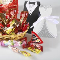 Wholesale Black white Candy Gift Boxes With Ribbon for Wedding Party Favor