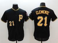 best white shirts for men - Pirates Clemente Baseball Jerseys Popular New Baseball Jersey Best Quality Baseball Shirts for Man Baseball Uniform Online Cheap