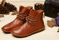 ankle boots comfortable - Top Quality Women Shoes Handmade Leather Shoes Female Genuine Leather Boots Breathable Loafers Soft Comfortable Shoes