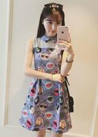 Wholesale 2016 summer new fashionable jacquard printed sleeveless dress