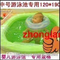 Wholesale Baby bath tub bath membrane disposable spa tub basin membrane bag The disposable isolation swimming bag dhl Infant swimming bath bag