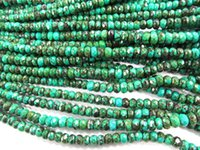 beads abacus - High quality strands x4 x6 x8mm Stabilzed Turquoise Rondelle Abacus Faceted Blue Green black jewelry Bead