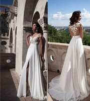 A-Line dress dubai - Vintage Summer Beach Wedding Dresses Cap Sleeves Retro Cheap Bridal Gowns A Line Illusion Neck Gorgeous Arabic Dubai Gowns