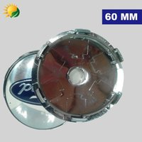 abs chrome - 4pcs mm Car Styling Accessories Emblem Badge Sticker Wheel Hub Caps Centre Cover for FORD Focus FIESTA F150 Kuga FUSION ESCAPE