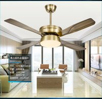 ac frequency controller - Restaurant fan light ceiling fan lamp minimalism modern household variable frequency fan ceiling living room led ceiling fans controller