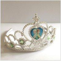 Wholesale 2016 New Children dress up the crown Ice crown colors Elsa aisha cartoon crown princess