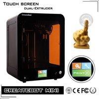 Createbot Marque 3D Imprimante Chine Nouveau Desktop Écran Tactile 3D Imprimante Kit Double Extrudeuse Chaleur Lit Impressora 3D Fit PLA Filament ABS