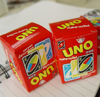 Wholesale Travel package mini UNO game Cards classic board Game thin paper Playing Card Family Fun party game