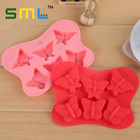 Wholesale cm D Silicone Mold Butterfly Shapes Mould Cavities For Ice cake