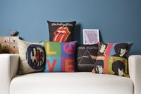 beatles gift - birthday gift Rock amp Roll The Beatles Pink Floyd The Rolling Stones The Who Love pattern cushion pillow home decor