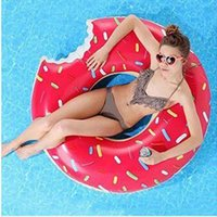 Wholesale new Donut Swimming Float Inflatable Swimming Ring cm pool for children Life buoy Beach Toys