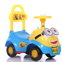 Wholesale 1 years old music colorful four wheel single drive swing buggy ride on car