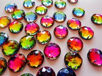 Wholesale hot sale round flatback mm multicolour crystal sew on rhinestones gem stones strass