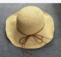 beach hat manufacturers - 2016 new Manufacturers selling straw lady new straw hat hat simple folding beach hat UV sunscreen
