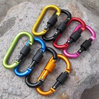 aluminium hangers - Outdoor Safety Buckle Climbing Carabiner For Keys Aluminium Alloy Camping Equipment Sobrevivencia Titanium Stainless Steel
