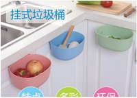 Wholesale Size cm Portable Hanging Kitchen Cupboard Door Back Hook Style Stand Trash Garbage Bags Storage Buckets Racks Box Waste Bins