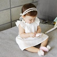 baby barley - New hot two pearl barley flower first take the lead drill yarn baby girl child headband accessories