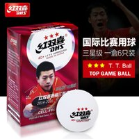 Wholesale New Material CELL FREE Star Level mm PingPong Ball Table Tennis Ball Official Ball of World Games DHS B3