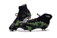 Wholesale Original new mercurial superfly soccer Shoes for men FG camo football boots shoe Soccer cleats mens high top Futbol boats shoe outdoor socce
