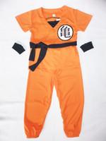 al por mayor reproducir ropa de niño-Disfraces de Halloween Cartoon Dragonball 3 - 7 años Boy Saiyan Juego de rol cosplay, niño Star SON GOKU modelo de ropa