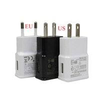 apple ac wireless - USB Wall Charger V A AC Travel Home Charger Adapter US EU Plug for Samsung Galaxy Note S7 S6 Edge Plus A8 A7 White Black Color