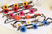 Wholesale Seaside beach flower head ornaments bridal wreath new beautiful flowers girl fashion hair band hair accessories