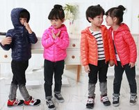 Wholesale Children Down Jackets Boy Girl Winter Ultra light Sport White Duck Down Coat Kids Outerwear Wave Hooded Slim Portable Unisex High Quality