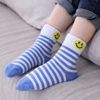 Wholesale Fashion boys and girls kids socks high quality cotton Smiley face frees shipping