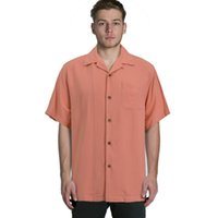 Cheap Wholesale-Bahama silk short sleeve loose plus big mens shirts big sizes us size