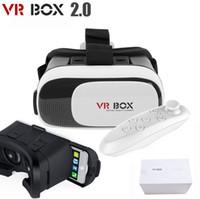 Wholesale 2016 Latest D Virtual Reality VR Box Glasses Phone Headset Helmet Remote