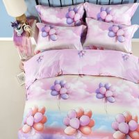 air drill machine - Home textile satin drill cotton d air balloon bedding set pink blue cartoon quilt cover