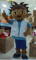 Wholesale On sale Dora Brother Mascot Costume Diego Mascot Costume Dora The Explorer Cartoon Mascot Cartoon Mascot Costume