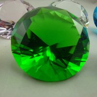 Wholesale And Logo Customized mm Crystal Glass Round Diamond Paperweight Without Base Promotional gifts By DHL