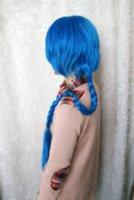 aladdin mix - 100cm Long Braid Synthetic Maga Cosplay MAGI Aladdin Wig Blue wig business wig panty wig panty