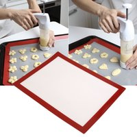 Wholesale Durable cm Non stick Cooking Silicone Heat Resistant Baking Mat BBQ Grill Mat silicone barbecue pad FDA LFGB DGCCRF
