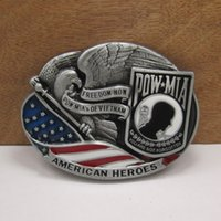 accessories pows - POW MIA military belt buckles Military Tactical fashion Survival silver model belt buckleTexas Mens Western Turbo Nos Tunning