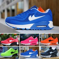 Cheap New Designer Kids Max 90 KPU Running Shoes For Boys Girls, Top Quality Athletic Children Maxes 90 Hyperfuse Outdoor Sport Sneakers 11C-3Y