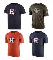 astros t shirts - New Unisex Houston Astros Salute To Service T Shirt Men s Women s Fashion leisure Sport shirt Mixed order