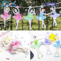 ballet paper - Ballet girls letter paper Flag banner girl Princess flags baby shower Adults party birthday supplies
