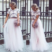 Wholesale Floor Length A Line Long Tulle Skirts For Women High Waist Pink Princess Womens Plus Size Quality Tulle Skirt