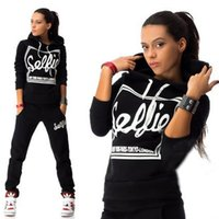 bat motorcycles - Sales Promotion set Womens Sets Letters Casual Sports Hoodies Hooded Outerwear Sweatshirt Pants SweatSuit Tracksuit Q1566