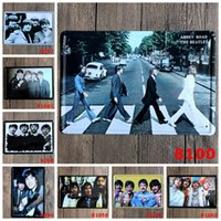 aluminum road signs - hot new cm classic ABBEY ROAD THE BEATLES Tin Sign Coffee Shop Bar Restaurant Wall Art decoration Bar Metal Paintings
