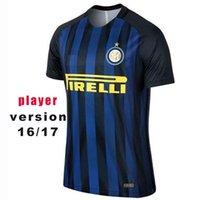 Wholesale 2017 Player Version Soccer Jersey Inter Milan Soccer Jerseys JOVETIC ICARDI PALACIO KONDOGBIA MEDEL Thai Quality Jeresys