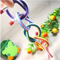 Wholesale Colorful Flexible Bendy Pencils Popular Erasable Magic Soft Pencils Rubber Material B Hardness Nice Outlook Hot Sale