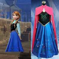 Wholesale fashion new style Hot Xmas Frozen Princess Anna Adult Women Cosplay Dress Cosplay Costume