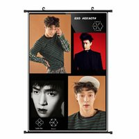 Wholesale Youpop KPOP EXO Album K M EX ACT Monster Lucky One LAY Non woven Poster Wall Hanging Painting Wall Picture Flip Chart DHB011