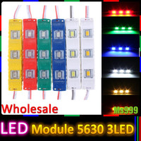 Wholesale DC12V SMD LED Module Injection Waterproof Decorative Hard Strip Bar Light Lamp White Red Green Yellow Blue DHL Free shippin