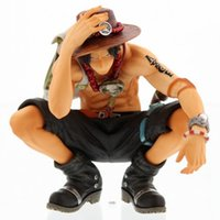 Wholesale Hot NEW cm One piece ace squatting action figure toys Christmas doll toy