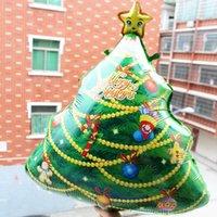 balloon drapes - 55 cm Christmas tree foil balloons merry Christmas decorations Christmas tree draped gifts air balloon supplies WA1262