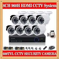 Wholesale CIA channel full h cctv video surveillance system tvl indoor outdoor camera ch dvr kit hdmi P for Zmodo security